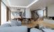 Render 3D arquitectura dúplex Donostia detalle general del salón